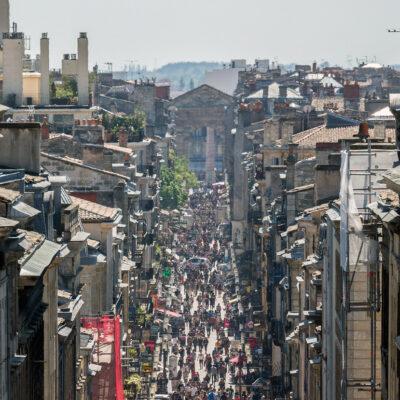 La Rue Sainte-Catherine à Bordeaux
